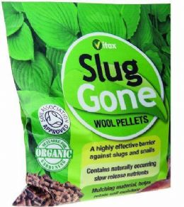Vitax 1L Slug Gone Natural Wool Slug and Snail Barrier Pellets Deterrent Mulch